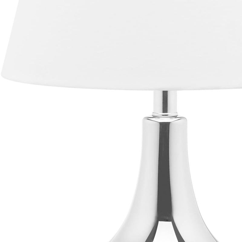 24-inch Glass Silver Table Lamp (Set of 2) - RoomsandDecor.com