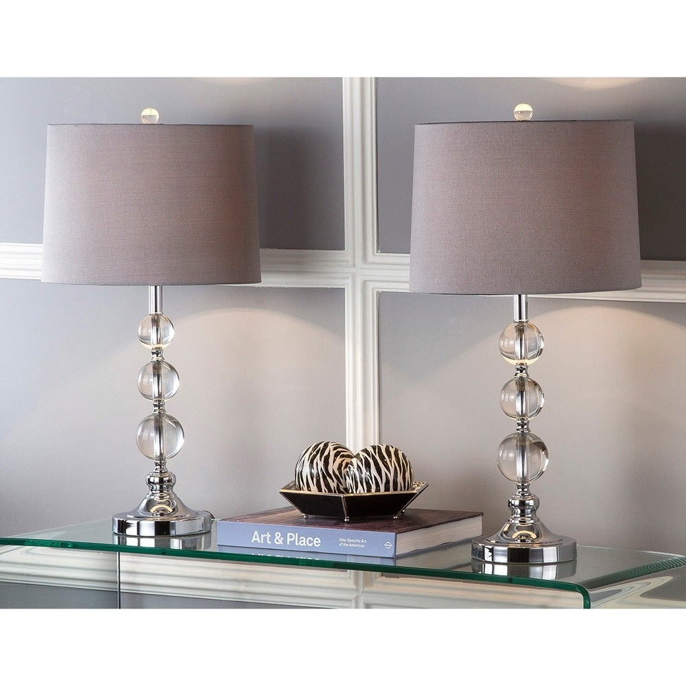 27-inch Crystal Orb Table Lamps (Set of 2) - RoomsandDecor.com