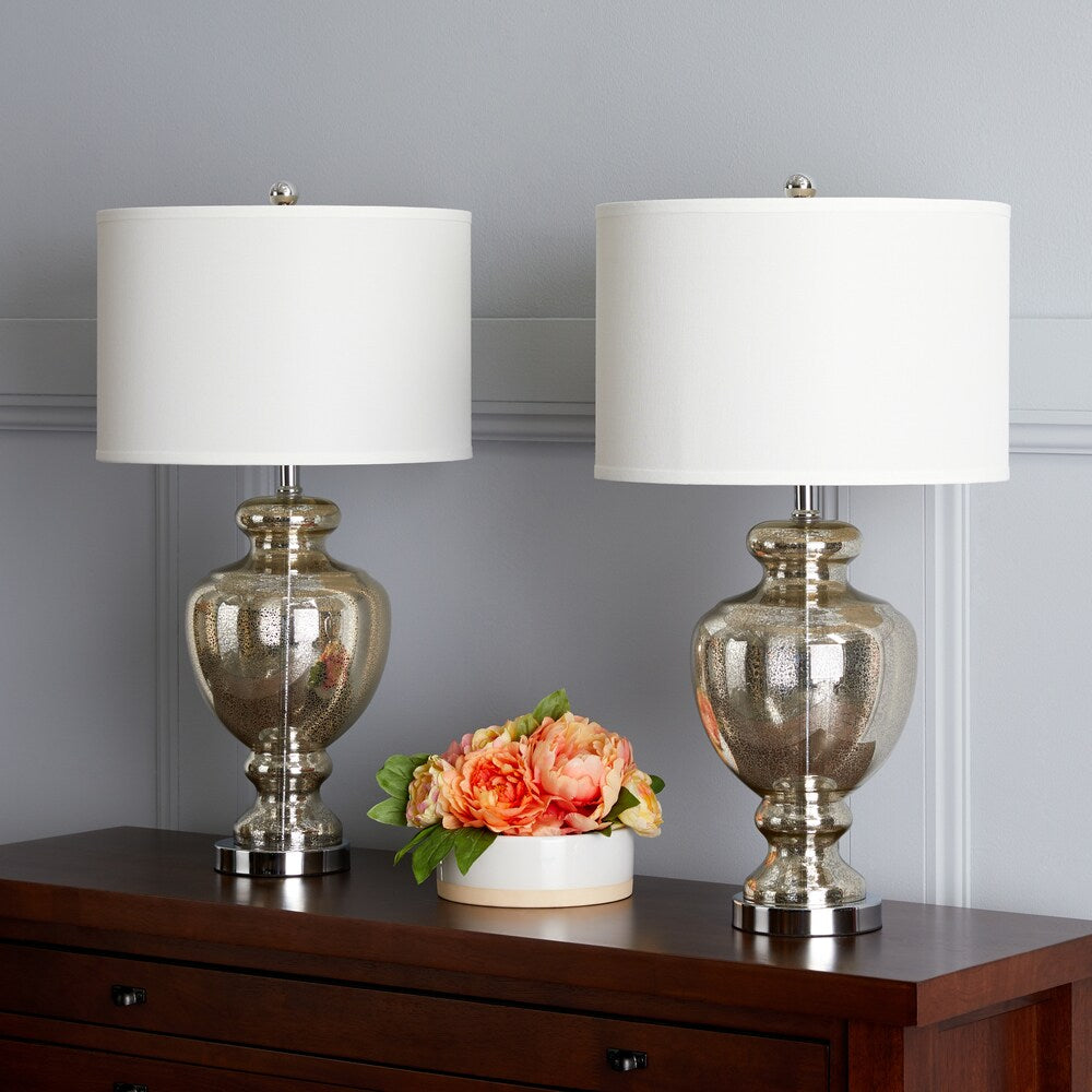 28-inch Mercury Glass Table Lamp (Set of 2) - RoomsandDecor.com