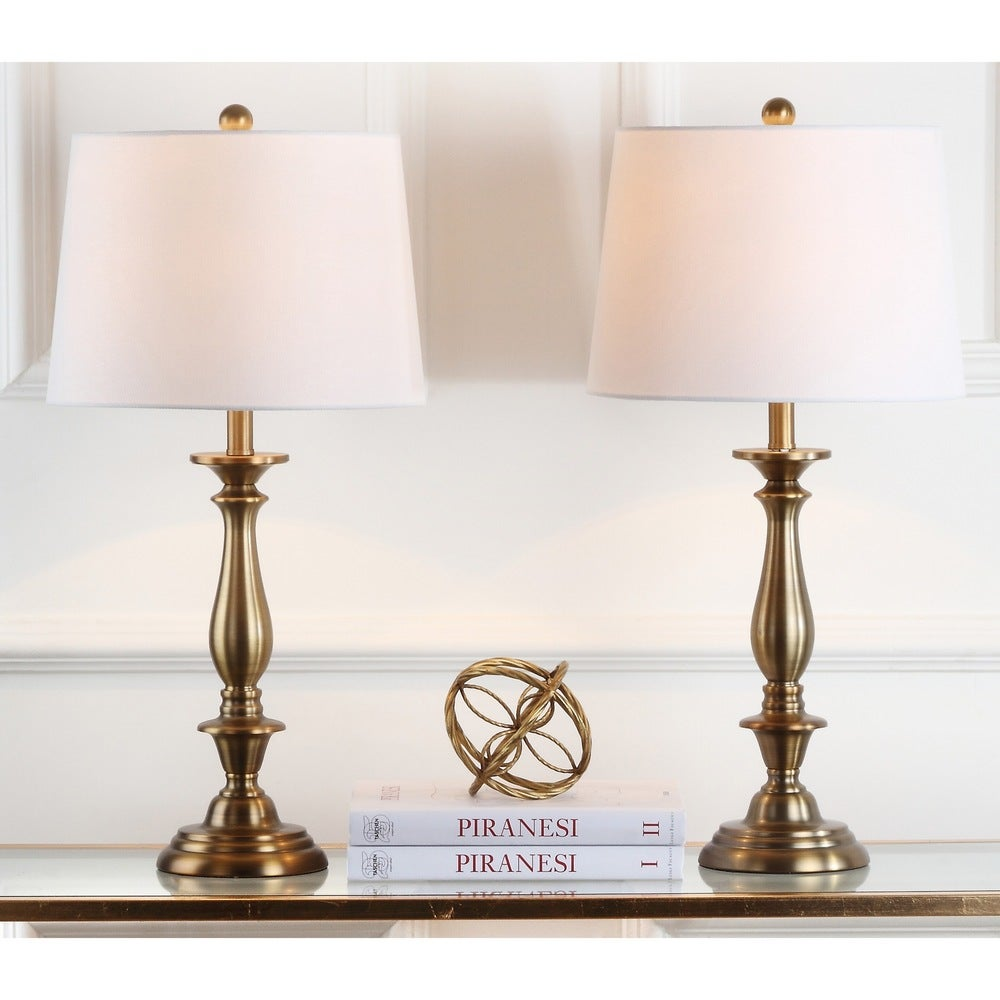 29-inch Candlestick Gold Table Lamp (Set of 2) - RoomsandDecor.com