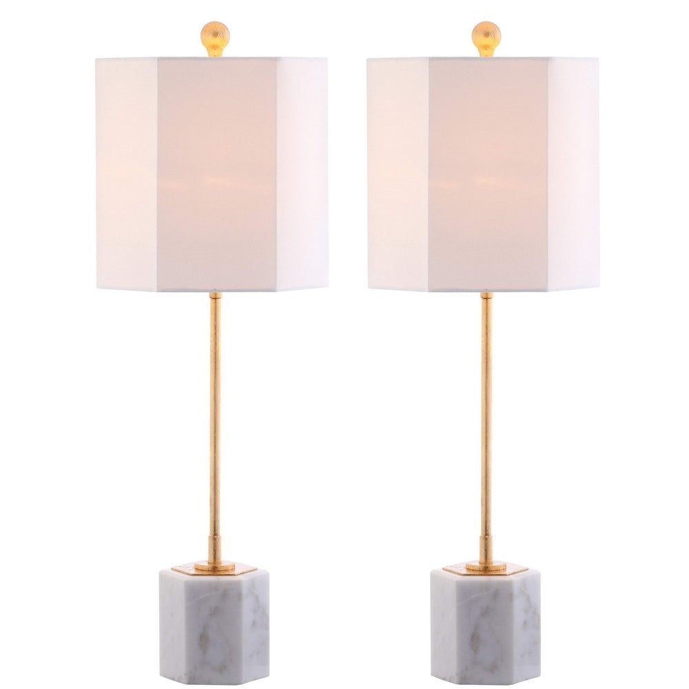 29-inch Marble LED Table Lamp (Set of 2) - RoomsandDecor.com