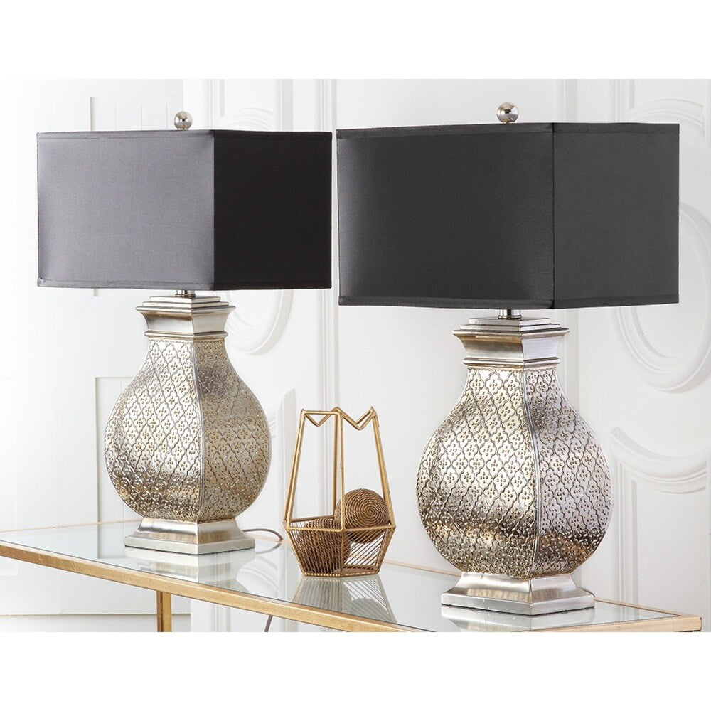 30-inch Royal Spain Silver Finish Table Lamp (Set of 2) - RoomsandDecor.com