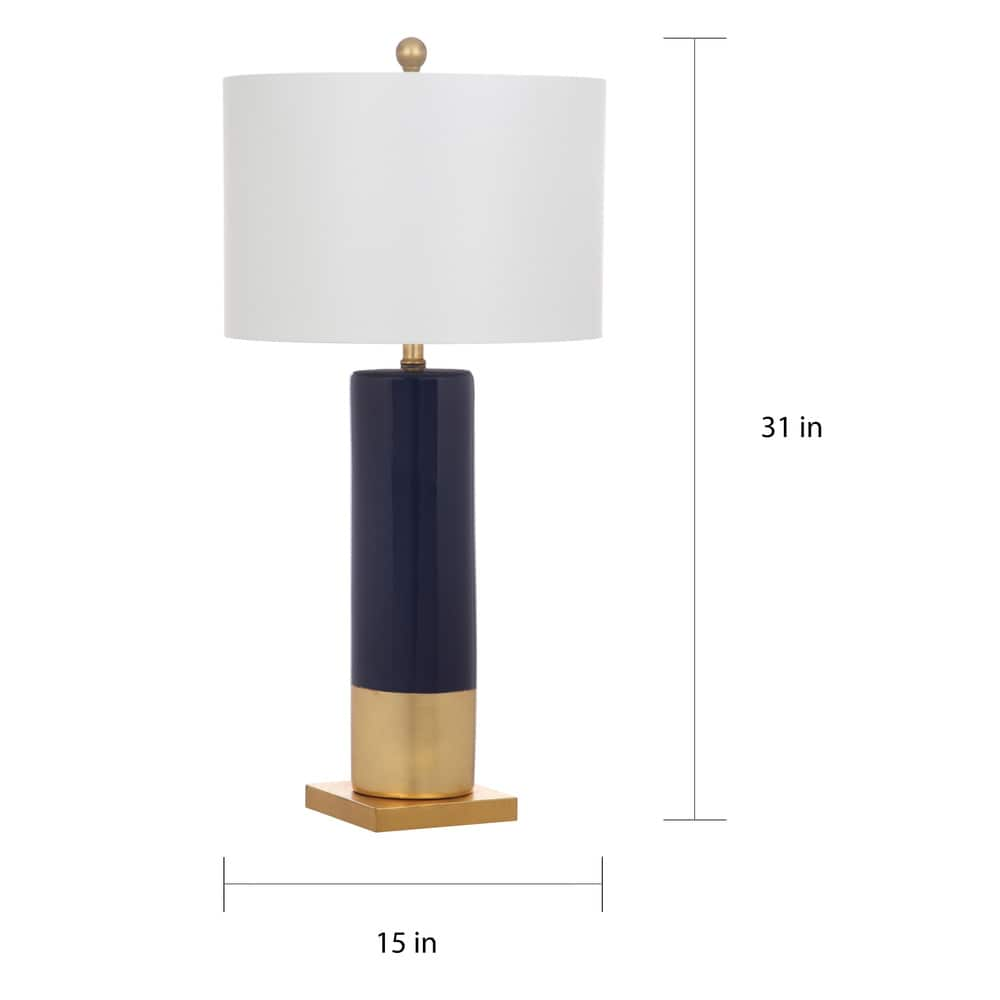 31-inch Dolce Navy/ Gold Table Lamp (Set of 2) - RoomsandDecor.com