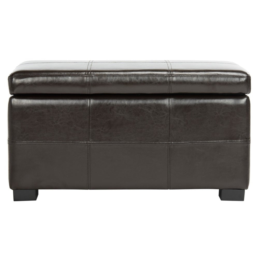 Madison Brown Bicast Leather Storage Bench