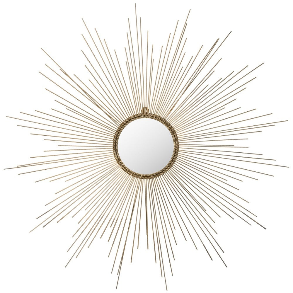 Safavieh Marinda Braided Gold Sunburst 41-inch Decorative Mirror - RoomsandDecor.com