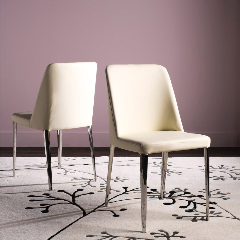 Safavieh Dining Mid-Century Modern Baltic Buttercream Dining Chairs (Set of 2)