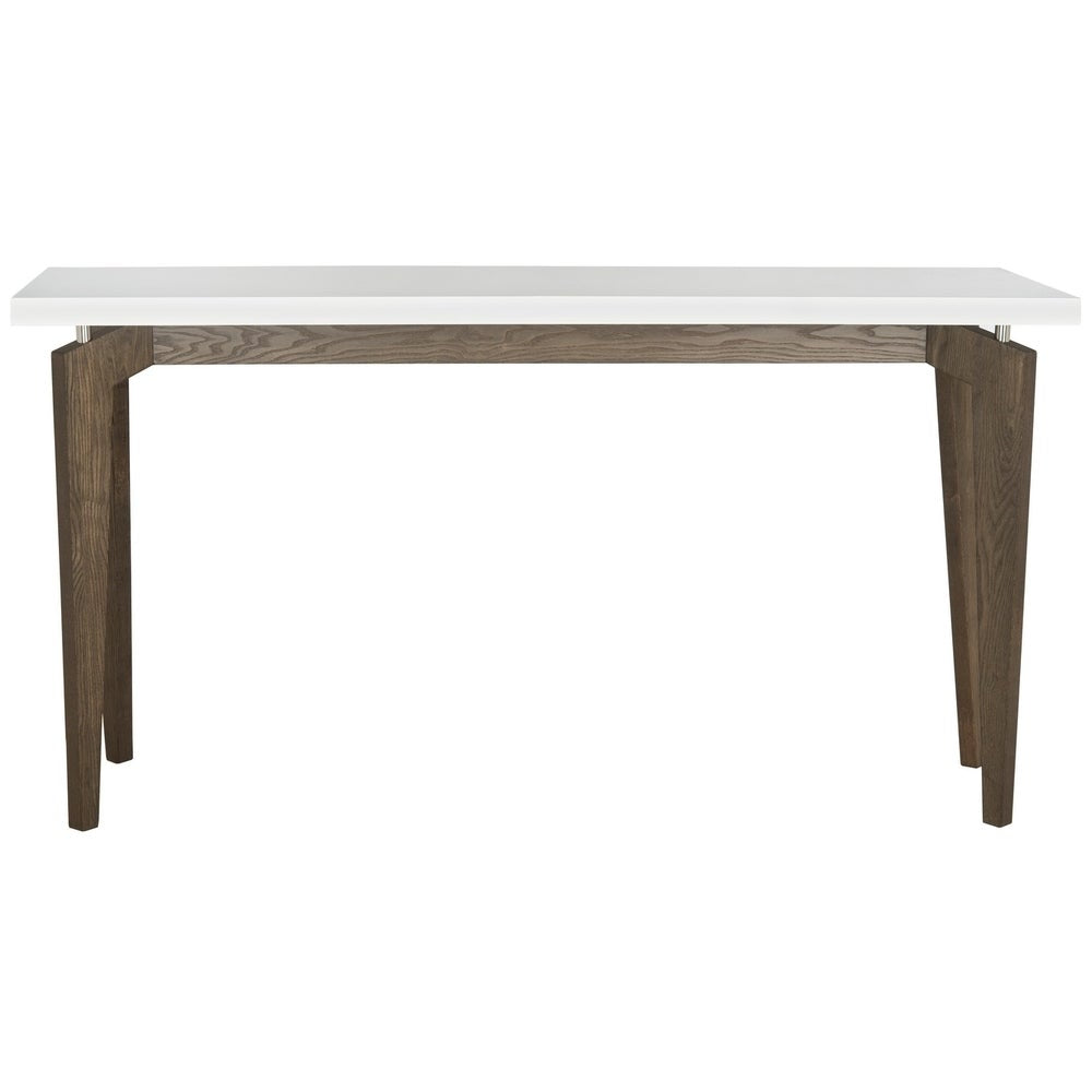 Safavieh Mid-Century Modern Josef White/ Dark Brown Lacquer Console Table - RoomsandDecor.com