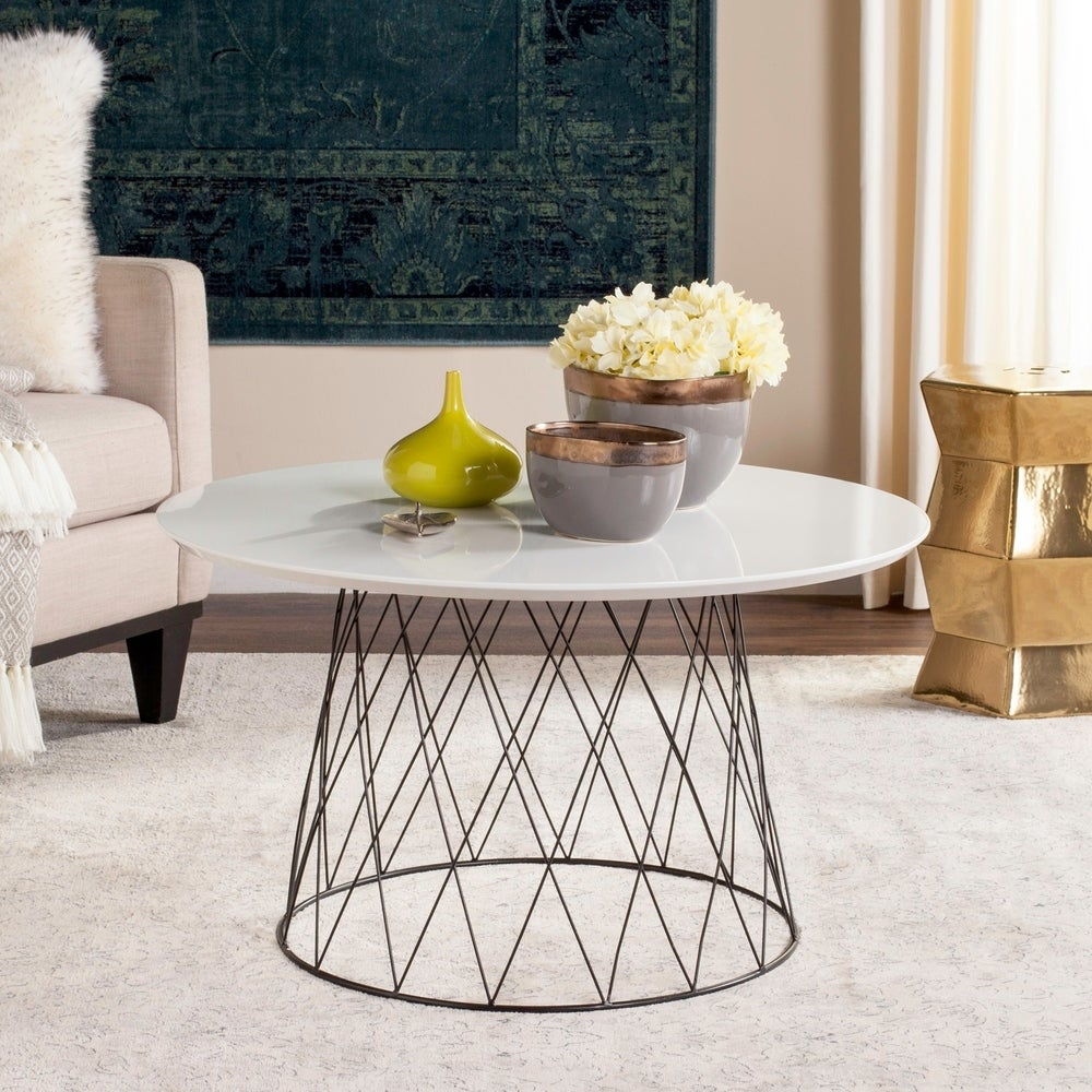 Safavieh Mid-Century Roe Lacquer Coffee Table