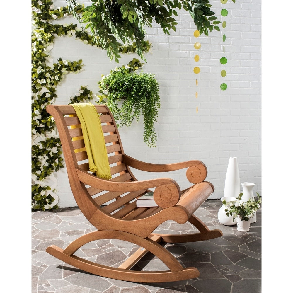 Sonora Brown Outdoor Rocking Chair