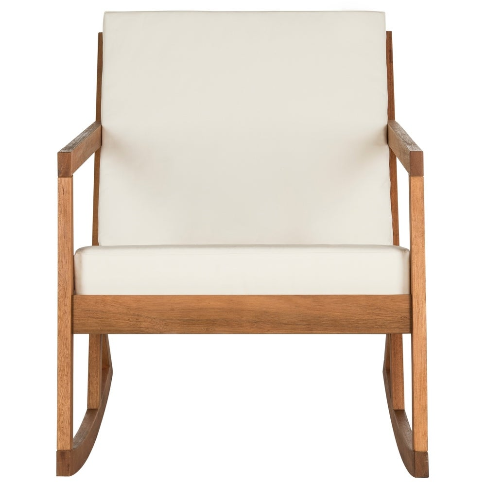 Vernon Brown/ Beige Outdoor Rocking Chair