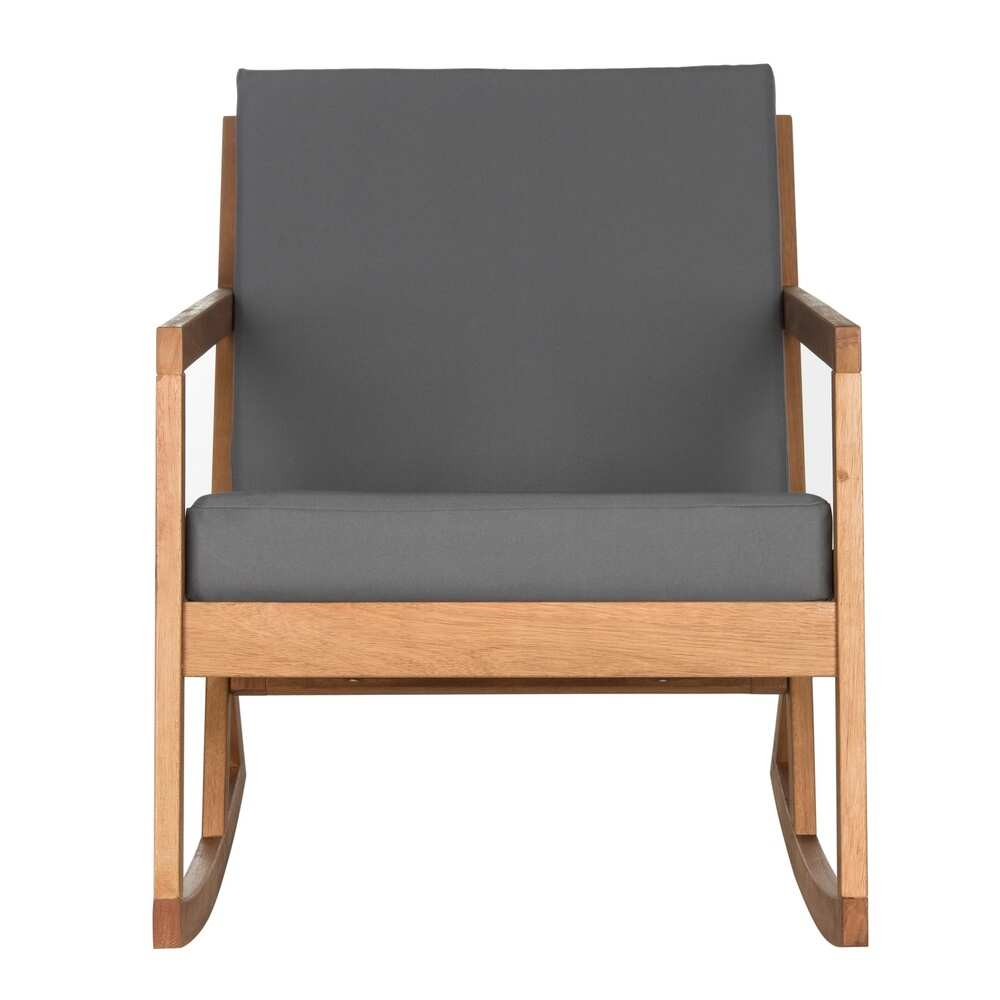 Vernon Brown/ Tan Outdoor Rocking Chair