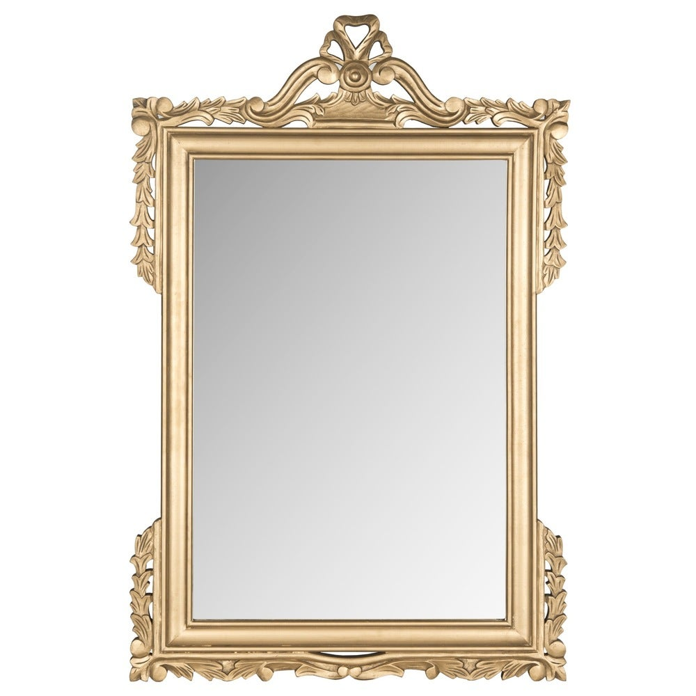 Safavieh Pedimint Gold 31 x 47-inch Rectangle Decorative Mirror - RoomsandDecor.com