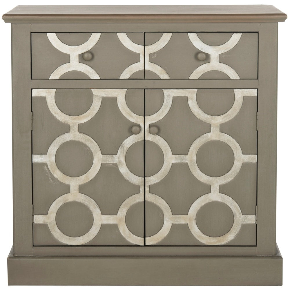 Petula Grey Storage Chest Console