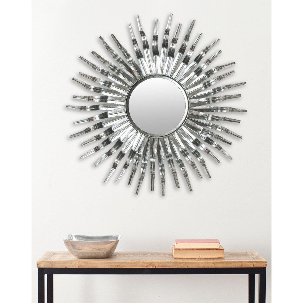 "Art Silver Sunburst 36-inch Decorative Mirror - 36"" x 36"" x 1.5"""