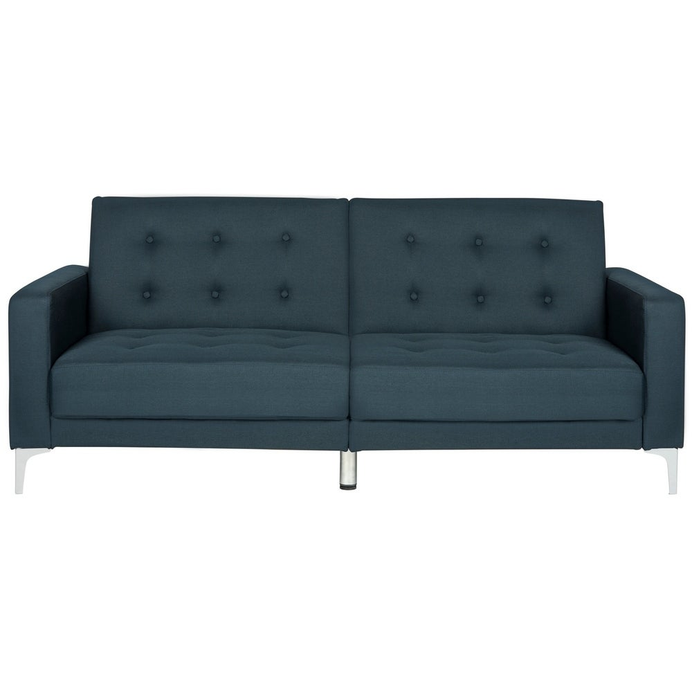Two-in-One Foldable Navy Loveseat Sofa Bed