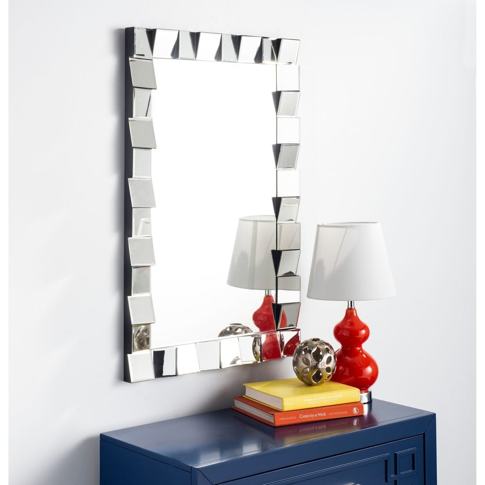 Safavieh Verney Modern Silver Rectangle Decorative Mirror - RoomsandDecor.com
