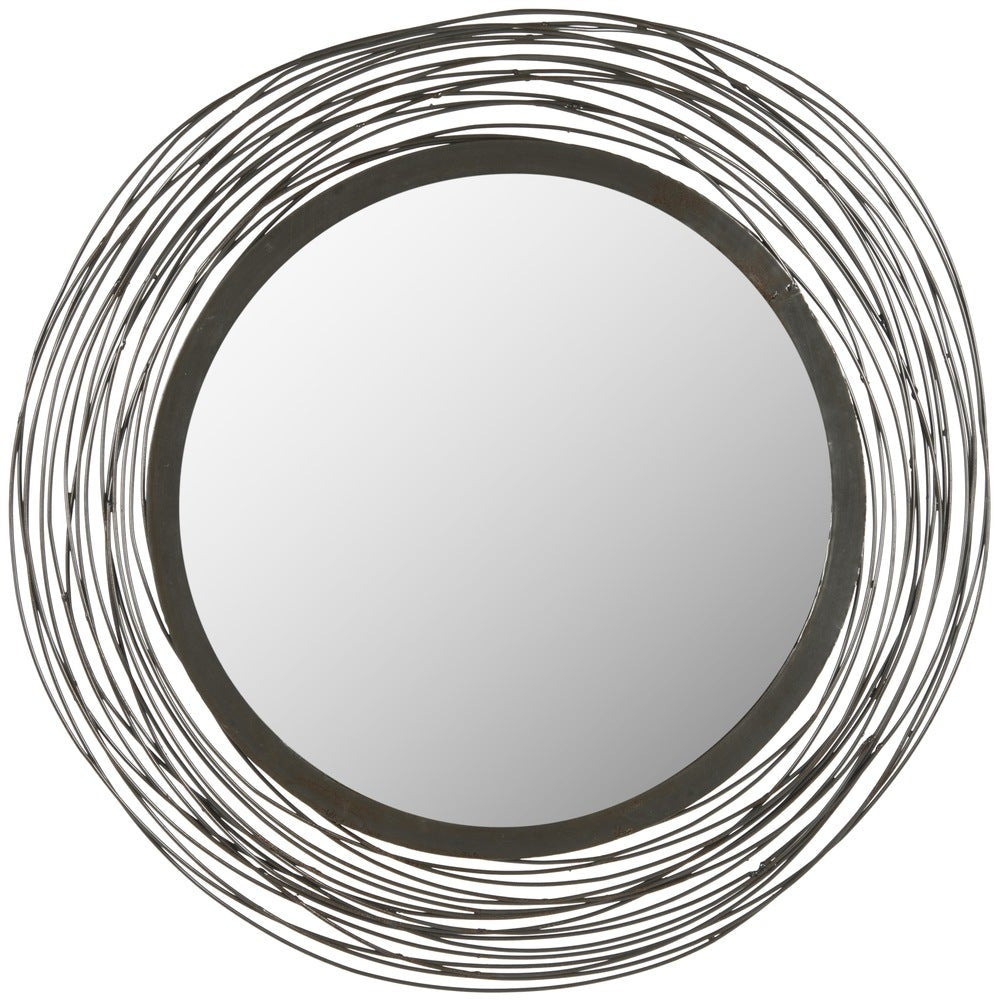 Wired Industrial 21-inch Round Decorative Mirror - RoomsandDecor.com