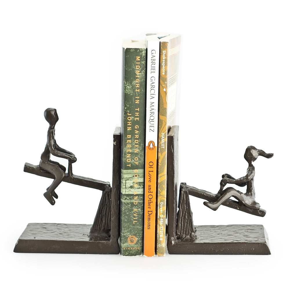 See-Saw Metal Bookend Set