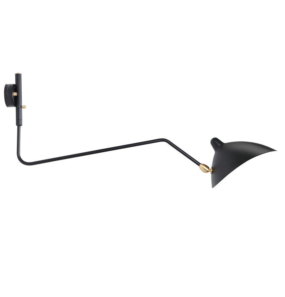 Serge One Curved Arm Sconce Wall Lamp - Reproduction