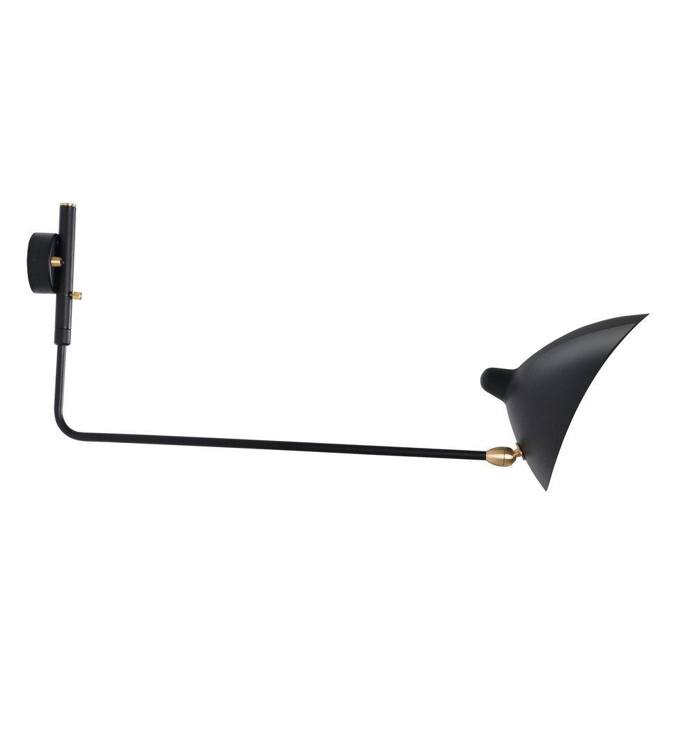 Serge One Straight Arm Sconce Wall Lamp - Reproduction