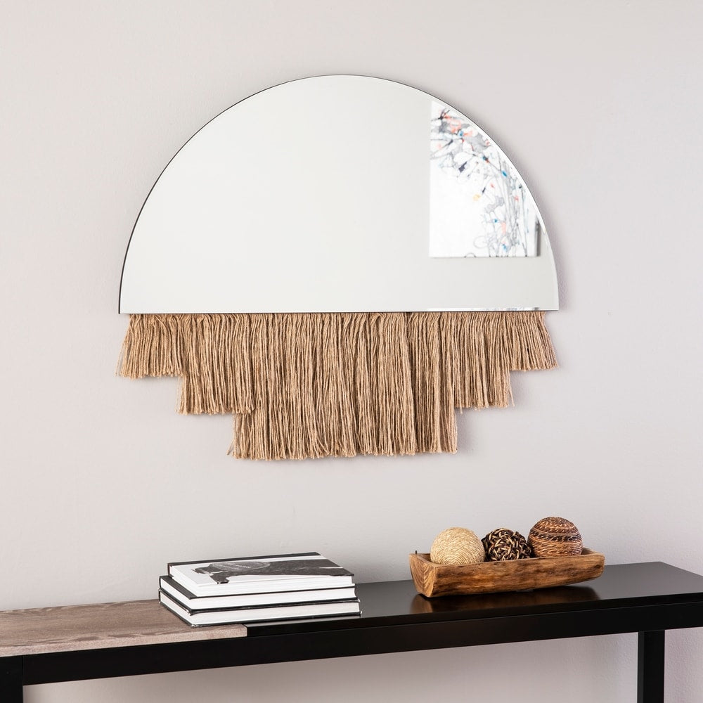 Shaw Decorative Mirror - Natural - RoomsandDecor.com