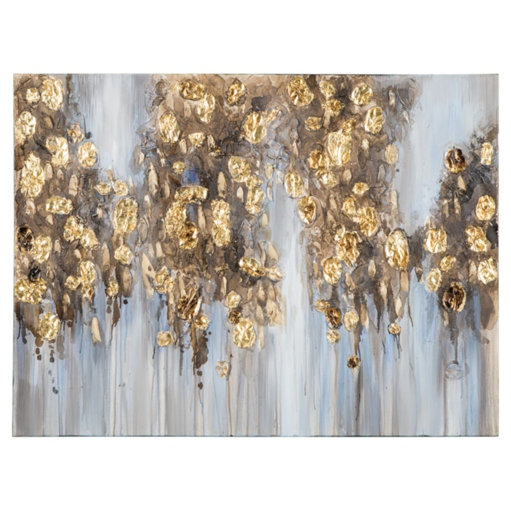 Donier Blue/Gold Contemporary Wall Art - RoomsandDecor.com