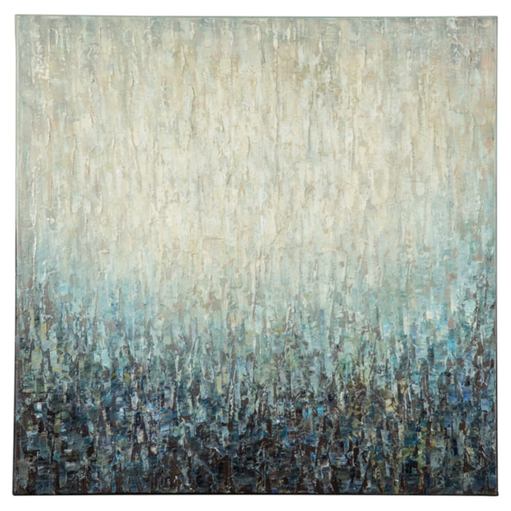 Pearl Ombre Blue Wall Art - RoomsandDecor.com