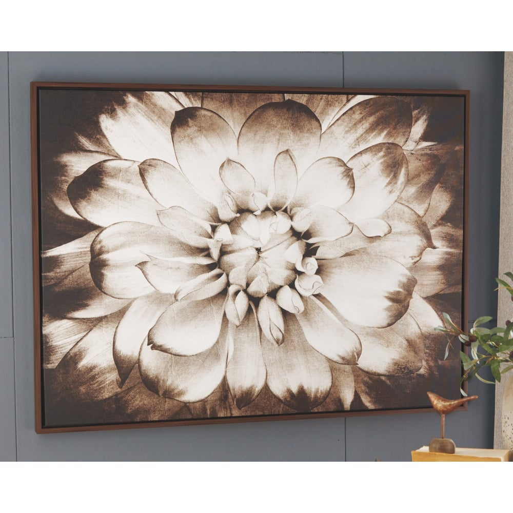 Floral Wall Art - Brown - RoomsandDecor.com