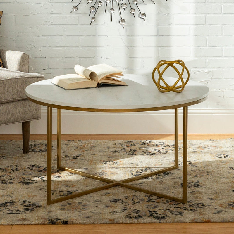 Silver Orchid Helbling 36-inch Round Coffee Table - RoomsandDecor.com