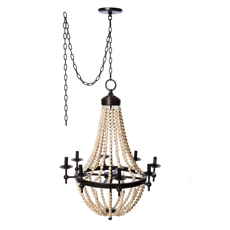 Beaded Brown 8-light Chandelier - RoomsandDecor.com