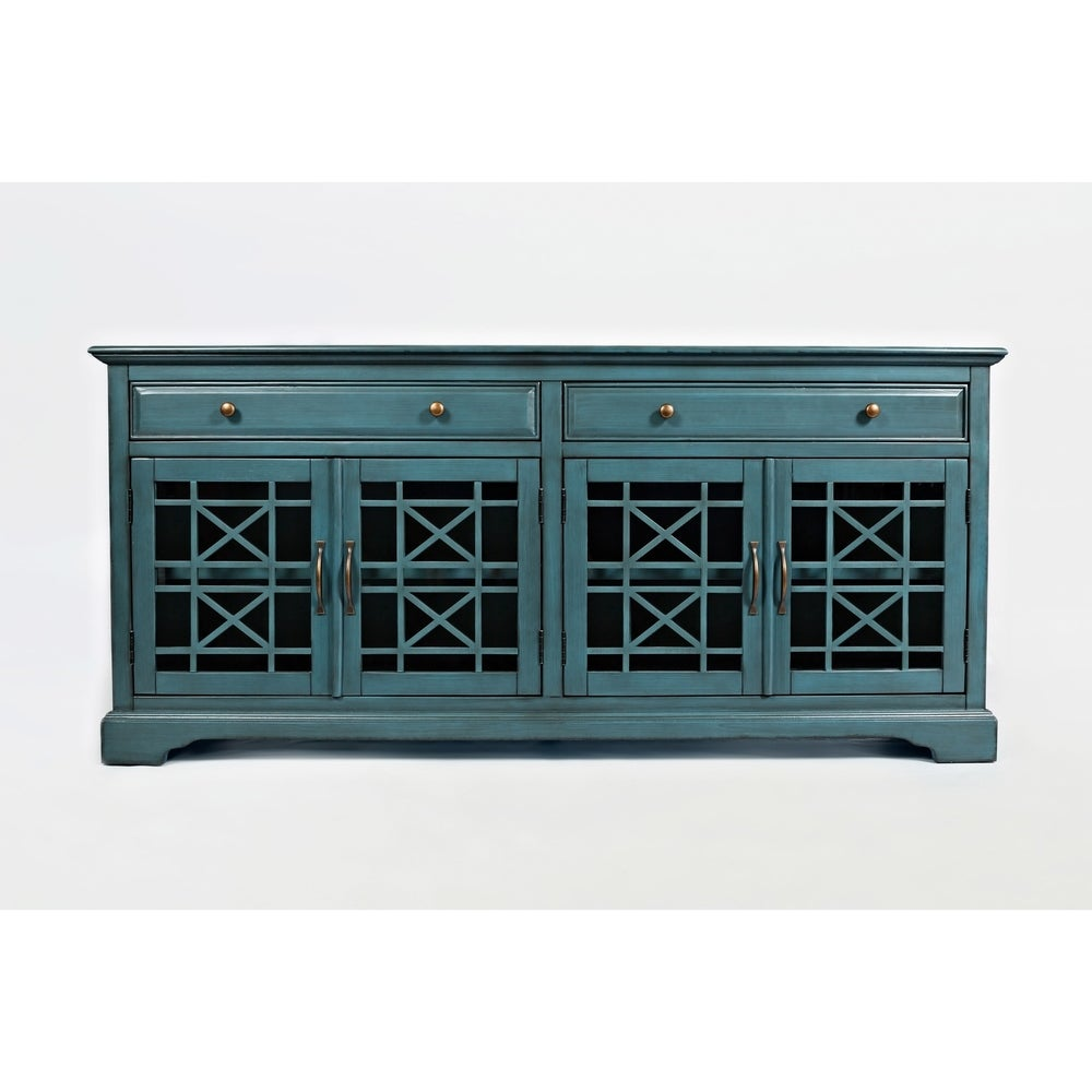 "Spacious Wooden 70"" Media Unit - RoomsandDecor.com"