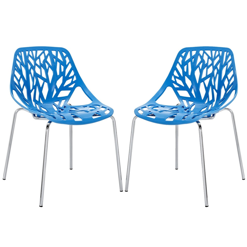 Stencil Blue Dining Chair (Set of 2)