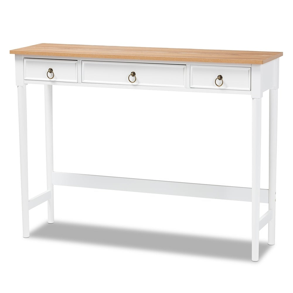Sylvie Classic and Traditional 3-Drawer Console Table - RoomsandDecor.com