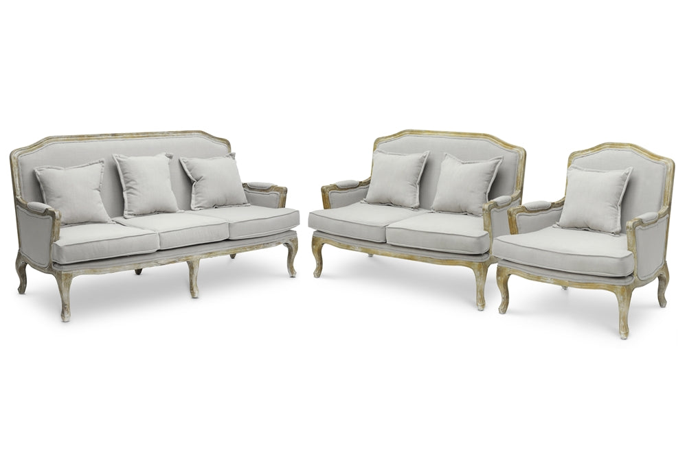French Belencia French Sofa Set - RoomsandDecor.com