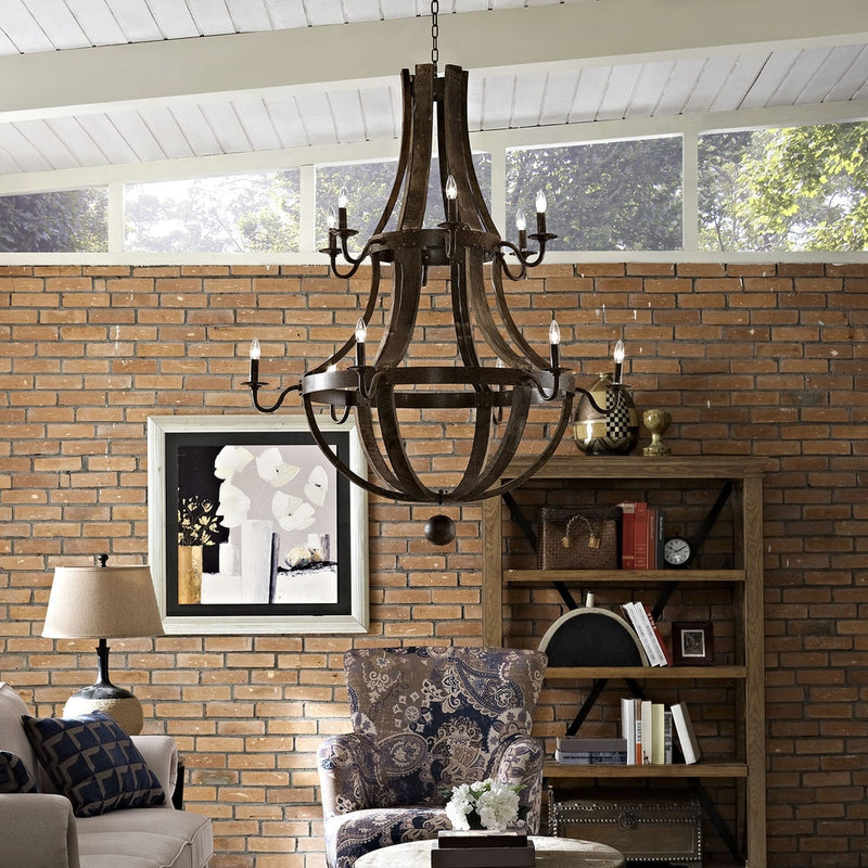 Filament Metal Bare Bulb Edison Single Pendant Light - Copper