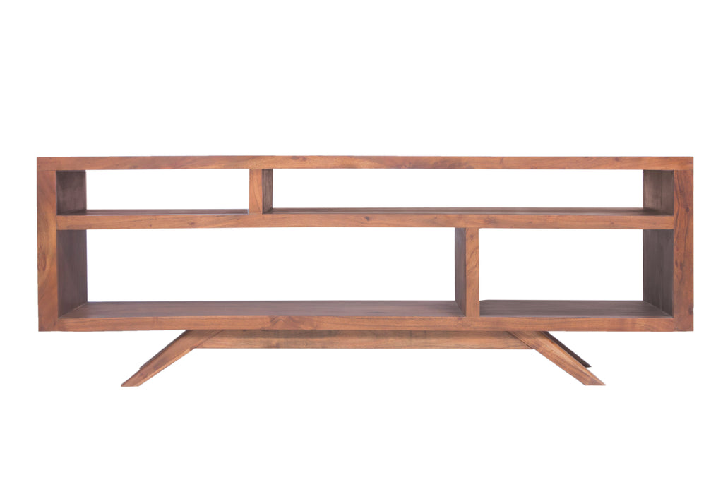 Mid Century Modern Acacia Wood Tv Stand