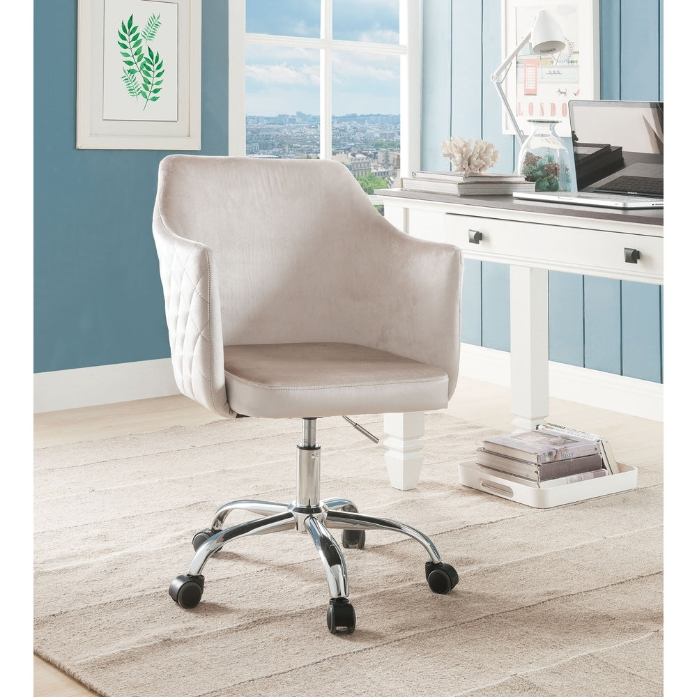 Velvet Upholstered Adjustable Office Chair - RoomsandDecor.com