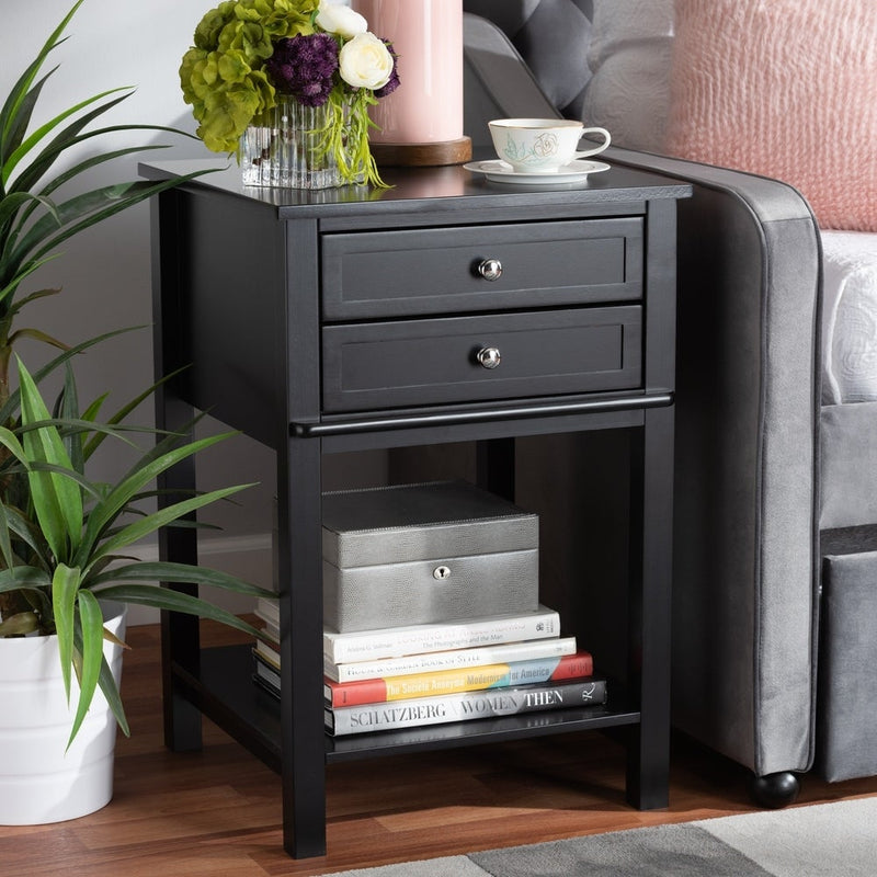 Transitional 2-Drawer Nightstand - RoomsandDecor.com