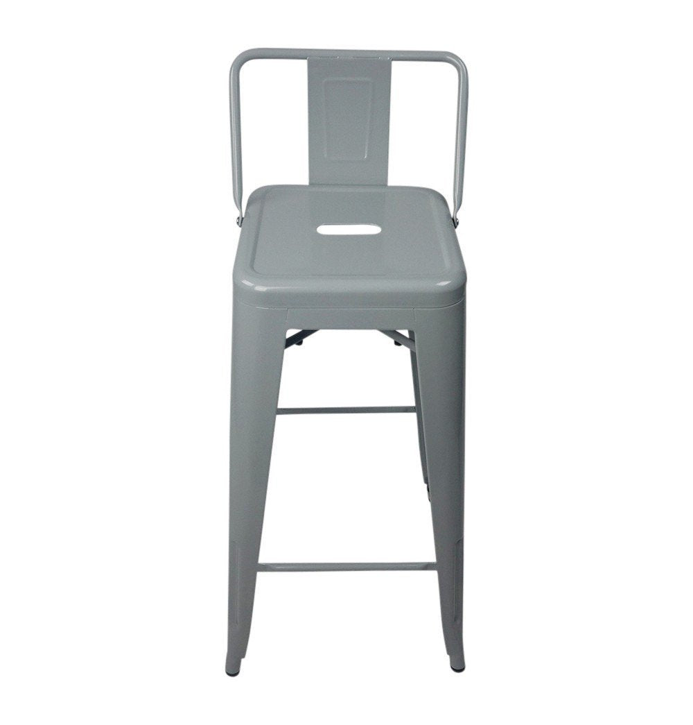 Tolix Style Bar Stool Low Back Chair - Reproduction