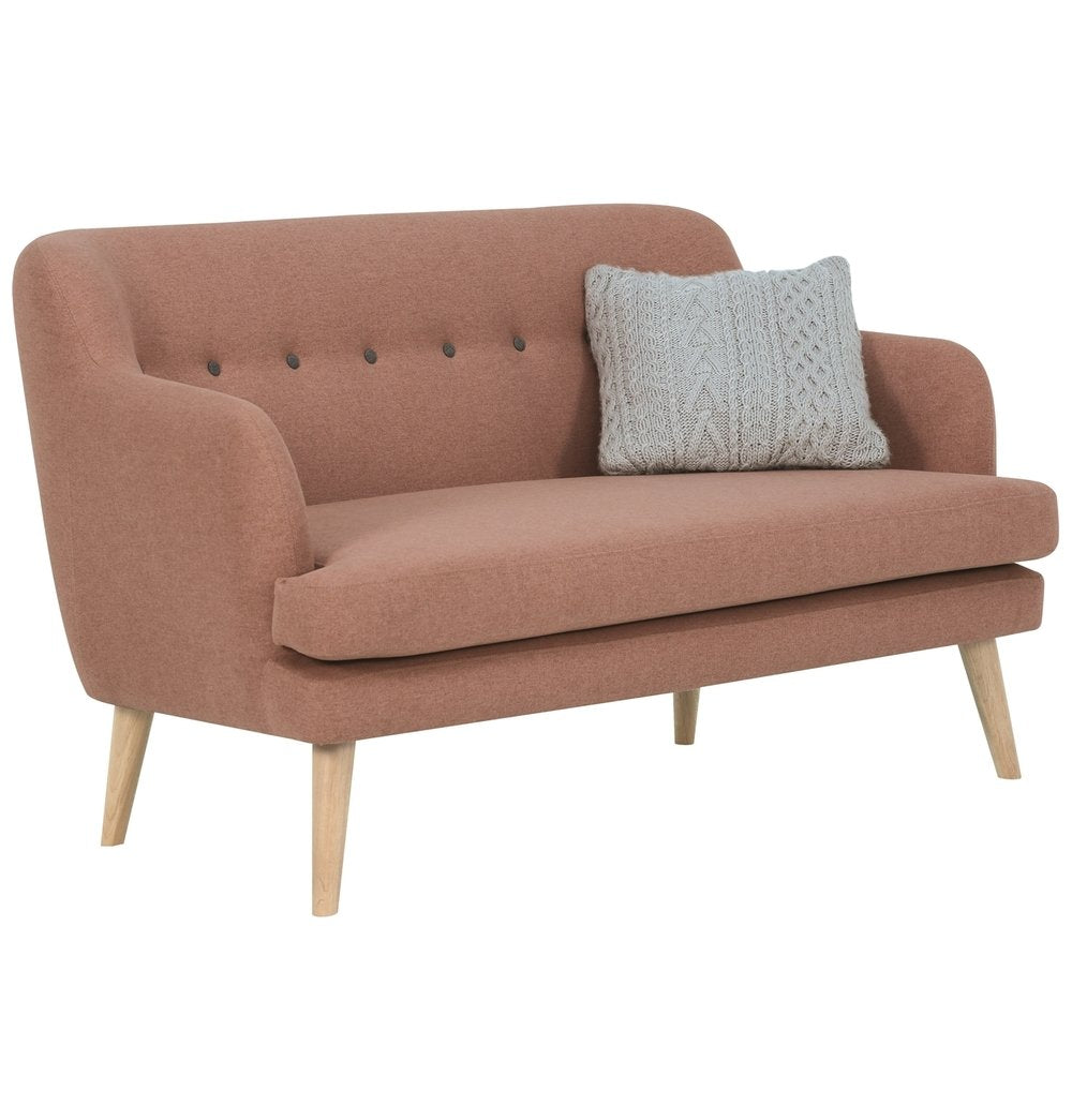 Exelero Loveseat 2 Seater Sofa - Burnt Umber