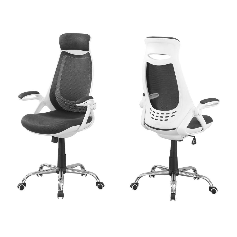 Jasmine 1-Piece White and Grey Office Chair - RoomsandDecor.com
