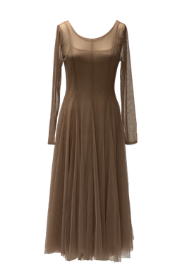 TAUPE TULLE DRESS