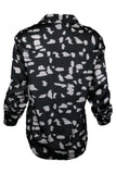 BLACK PRINT COW SHIRT