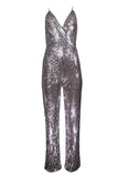 SEQUINED FLASHLIGHT JUMPSUIT