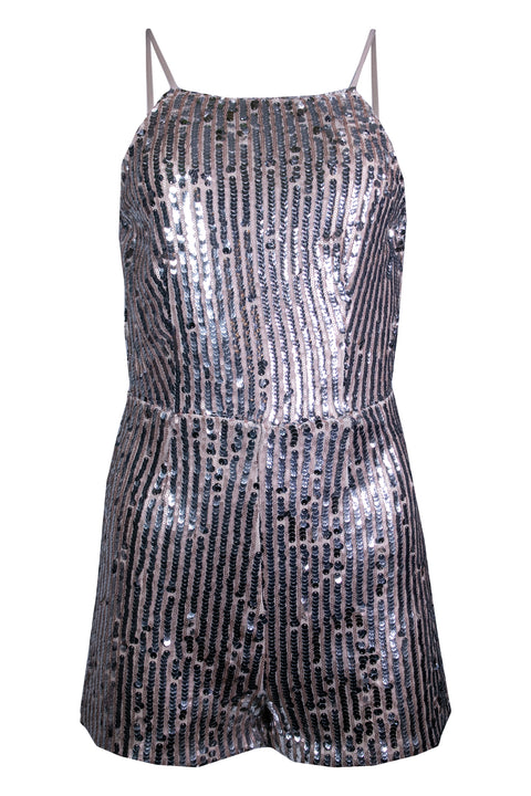 MINI SEQUINED FLASHLIGHT ROMPER
