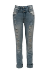 DOUBLE WAISTED JEANS