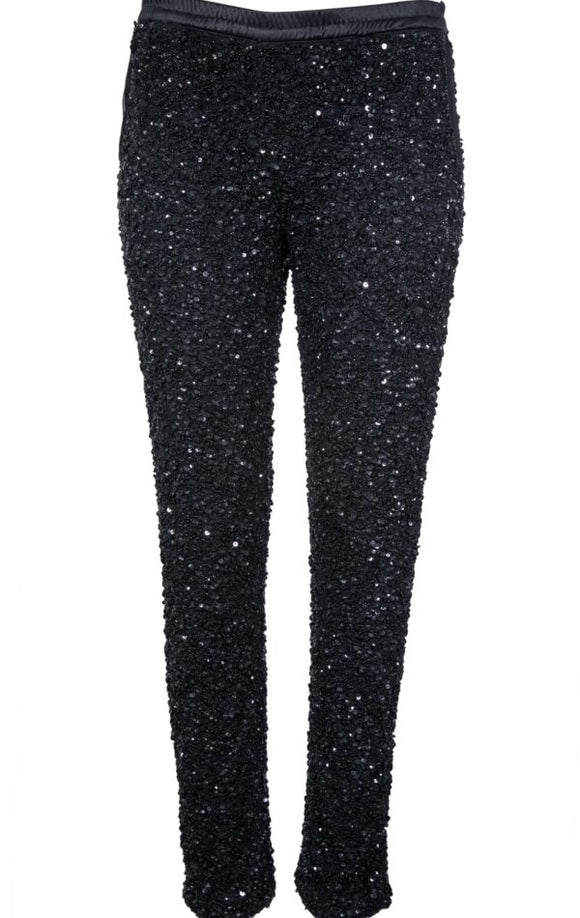 VF BLACK PANTS SEQUIN
