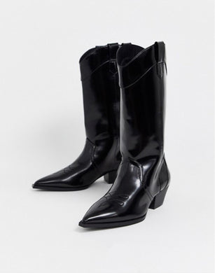 BLACK TEXANS BOOTS