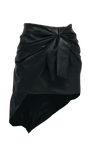 LEATHER KNOT SKIRT