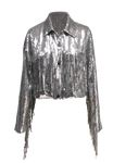 METALLIC FRINGE JACKET